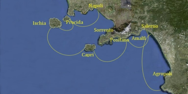 Mappa Itinerario Isole Flegree
