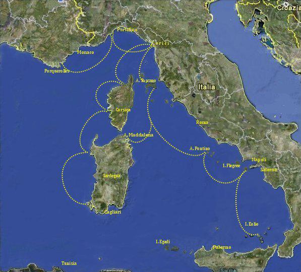 Rotte e Itinerari Mar Mediterraneo